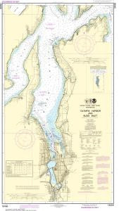US NOAA Chart 18456 Olympia Harbor and Budd Inlet