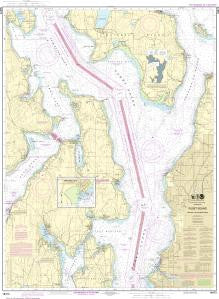 US NOAA Chart 18473 Puget Sound-Oak Bay to Shilshole Bay