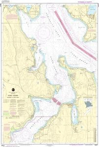US NOAA Chart 18477 Puget Sound-Entrance to Hood Canal