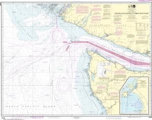 US NOAA Chart 18480 Approaches to Strait of Juan de Fuca Destruction lsland to Amphitrite Point