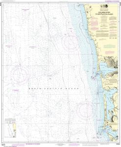 US NOAA Chart 18500 Columbia River to Destruction Island