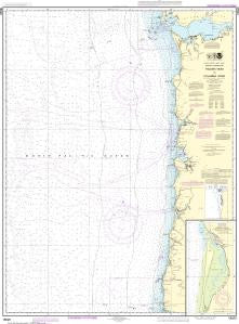 US NOAA Chart 18520 Yaquina Head to Columbia River; Netarts Bay