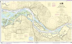 US NOAA Chart 18523 Columbia River Harrington Point to Crims Island