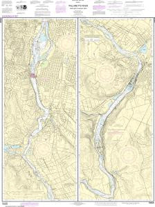 US NOAA Chart 18528 Willamette River Portland to Walnut Eddy