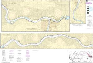 US NOAA Chart 18548 Snake River-Lower Granite Lake FRANKLIN D. ROOSEVELT LAKE