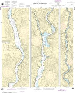 US NOAA Chart 18553 FRANKLIN D. ROOSEVELT LAKE Northern part