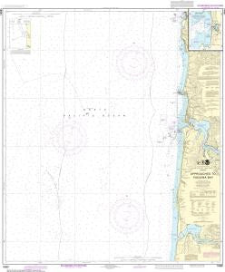 US NOAA Chart 18561 Approaches to Yaquina Bay;Depoe Bay