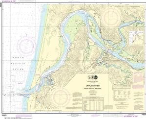 US NOAA Chart 18584 Umpqua River Pacific Ocean to Reedsport