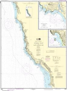 US NOAA Chart 18602 Pyramid Point to Cape Sebastian;Chetco Cove;Hunters Cove