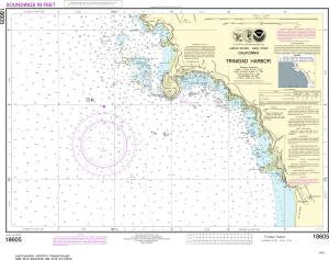 US NOAA Chart 18605 Trinidad Harbor