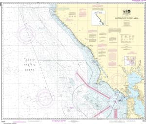 US NOAA Chart 18640 San Francisco to Point Arena