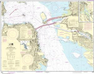 US NOAA Chart 18650 San Francisco Bay Candlestick Point to Angel Island