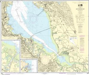 US NOAA Chart 18651 San Francisco Bay-southern part;Redwood Creek.;Oyster Point