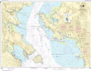 US NOAA Chart 18653 San Francisco Bay-Angel Island to Point San Pedro