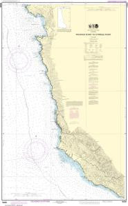 US NOAA Chart 18686 Pfeiffer Point to Cypress Point