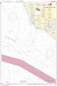 US NOAA Chart 18724 Port Hueneme And Approaches;Port Hueneme