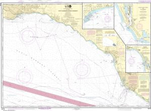 US NOAA Chart 18725 Port Hueneme to Santa Barbara;Santa Barbara;Channel Islands Harbor and Port Hueneme;Ventura