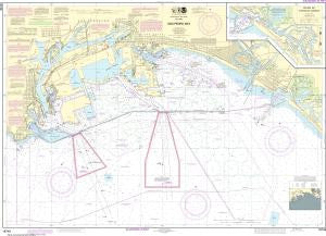 US NOAA Chart 18749 San Pedro Bay;Anaheim Bay Huntington Harbor