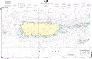 US NOAA Chart 25640 Puerto Rico and Virgin Islands