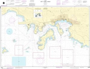 US NOAA Chart 25649 Saint Thomas Harbor