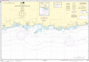 US NOAA Chart 25677 South Coast of Puerto Rico Guanica Light to Punta Tuna Light;Las Mareas