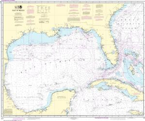 US NOAA Chart 411 Gulf of Mexico