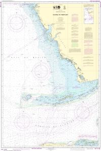 US NOAA Chart 4148 Havana to Tampa Bay (Metric)
