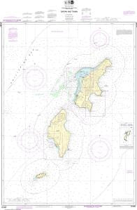 US NOAA Chart 81067 Commonwealth of the Northern Mariana Islands Saipan and Tinian
