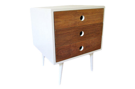 Round-Hole Pedestal / bedside table