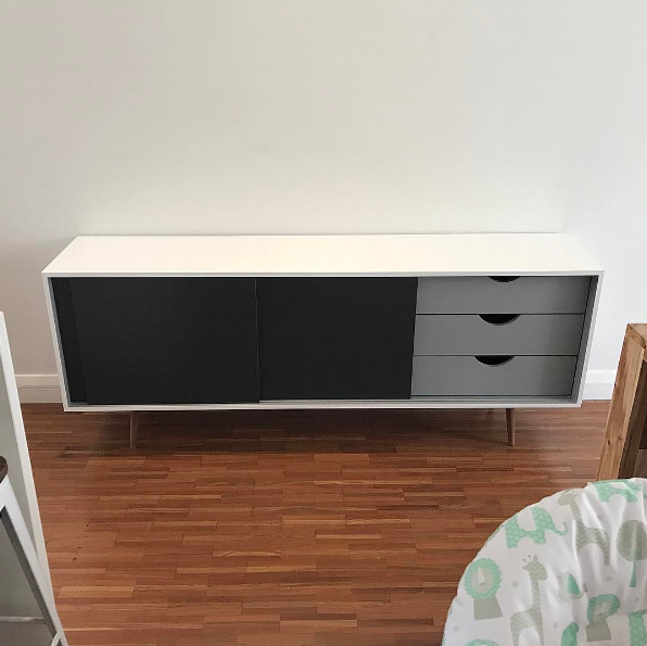 Sliding door cabinet (with drawers)
