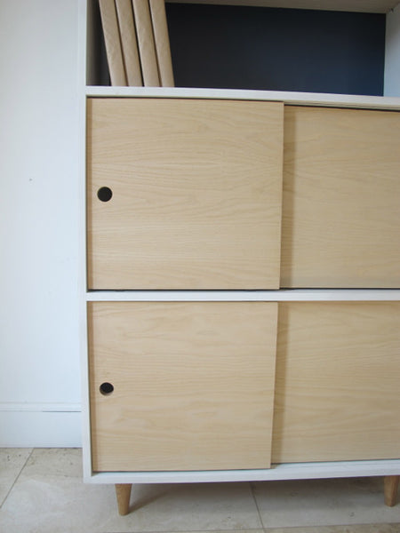 Tall Sliding Door Bookshelf