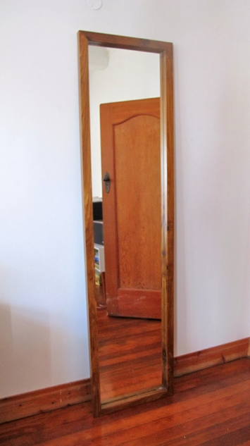 Solid Wood Standing Mirror