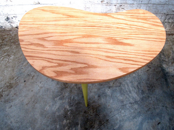 Oak Kidney Table