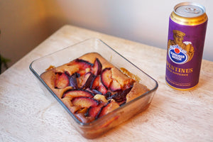 The Beer Lover's Table: Stone Fruit Spoon Cake and Schneider Aventinus Tap 6 Wheat Doppelbock
