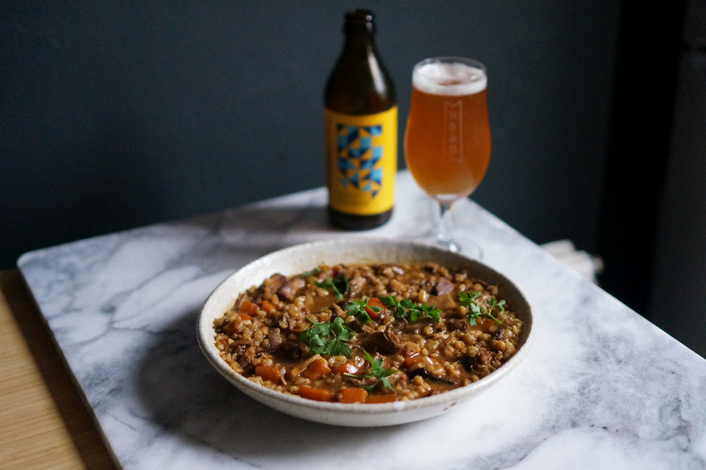The Beer Lover's Table: Braised Duck and Barley Stew with Braybrooke Beer Co Harvest Festbier