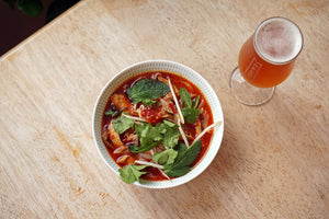 The Beer Lover's Table: Chicken Laksa and Braybrooke x Donzoko Vienna Lager