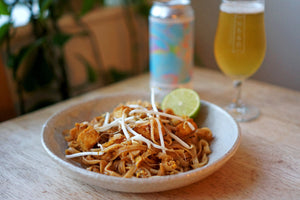 The Beer Lover's Table: Pad Thai with Crispy Tofu and Duration Brewing Promise Of Spring Norfolk Witbier