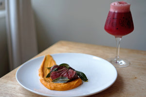 The Beer Lover's Table: Venison Steaks with Sweet Potato Puree and Gipsy Hill x People Like Us Bramble Sour
