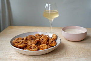 Wine & Food Killers: Popcorn Prawns with Lemon Dipping Sauce and Cantina Furlani Antico 2017