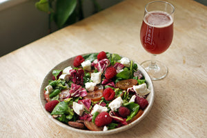 The Beer Lover's Table: Radicchio Salad with Goat Cheese, Raspberries & Roasted Pecans and Pastore Raspberry Wild