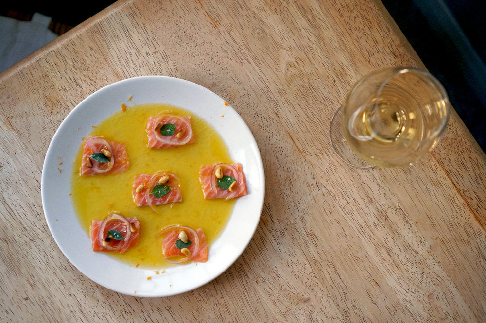 Wine & Food Killers: Pierre-Olivier Bonhomme Touraine Sauvignon 2017 and Salmon Crudo
