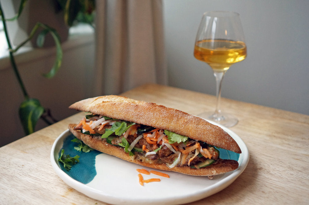 Wine & Food Killers: Grilled Pork Banh Mi Sandwiches and Testalonga Baby Bandito Stay Brave 2018