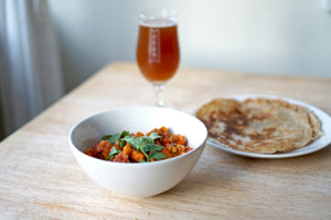 The Beer Lover's Table: Chickpea & Sweet Potato Curry and Wiper & True Amber Citra & Rye