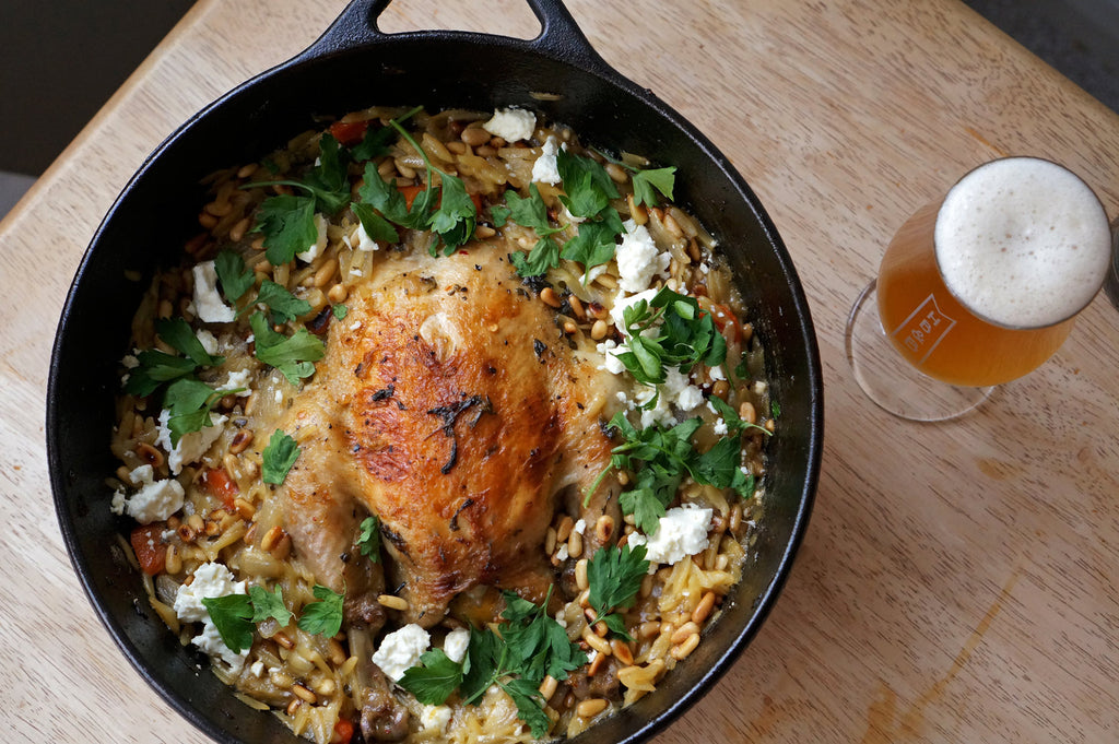 The Beer Lover's Table: Oven-Cooked Chicken & Orzo and Saison Dupont
