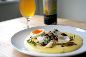 The Beer Lover's Table: Mushroom Polenta And Burnt Mill Steel Cut Gluten Free Oat Pale Ale
