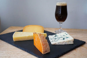 The Beer Lover's Table: A Mixed Cheese Plate and The Kernel India Brown Ale