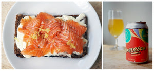 The Beer Lover's Table: Summery Cured Salmon with Marble x Holy Crab LanGOSEtine Langoustine & Pineapple Gose