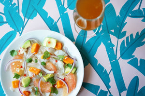 The Beer Lover's Table: Citrusy Sea Bass Ceviche and London Beer Lab Wheat Beer