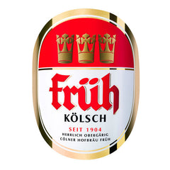 Fruh Kolsch 4.8% (500ml can)-Hop Burns & Black