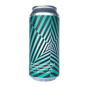 Cloudwater x Other Half Imaginary Greenscapes Imperial IPA 8% (440ml can)-Hop Burns & Black
